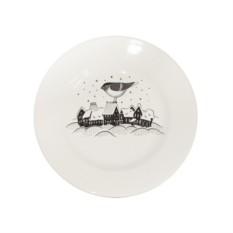 Фарфоровая тарелка Воробей