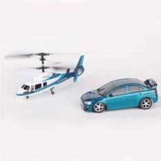 Радиоуправляемый игровой набор Wineya из вертолета и машины