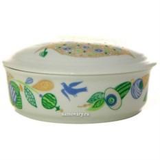 Туалетная коробочка из фарфора Весенние листья