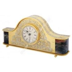 Каминные часы из яшмы и латуни