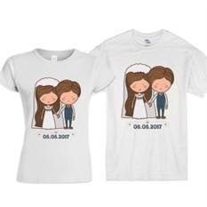 Свадебные футболки Дата нашей свадьбы
