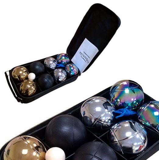 Игра Петанк (бочче) из 8 четырехцветных шаров