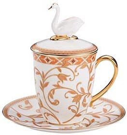 Набор для чая Swan с терракотовым орнаментом
