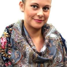 Павлопосадский платок Сон бабочки (размер 125*125 см)