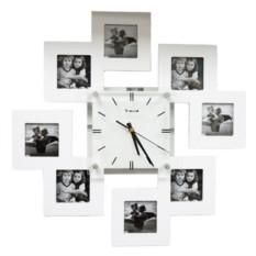 Фоторамка с часами из 8 рамок