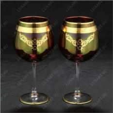 Свадебные бокалы ручной работы с золотом