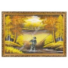 Картина из каменной крошки Рыбак (40х60 см)