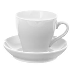 Белая чайная пара Tulip