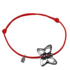Серебряный веревочный браслет Бабочка, взмах крыльев