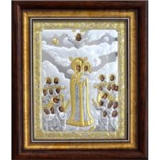 Икона Божьей Матери в серебре Всех скорбящих радость