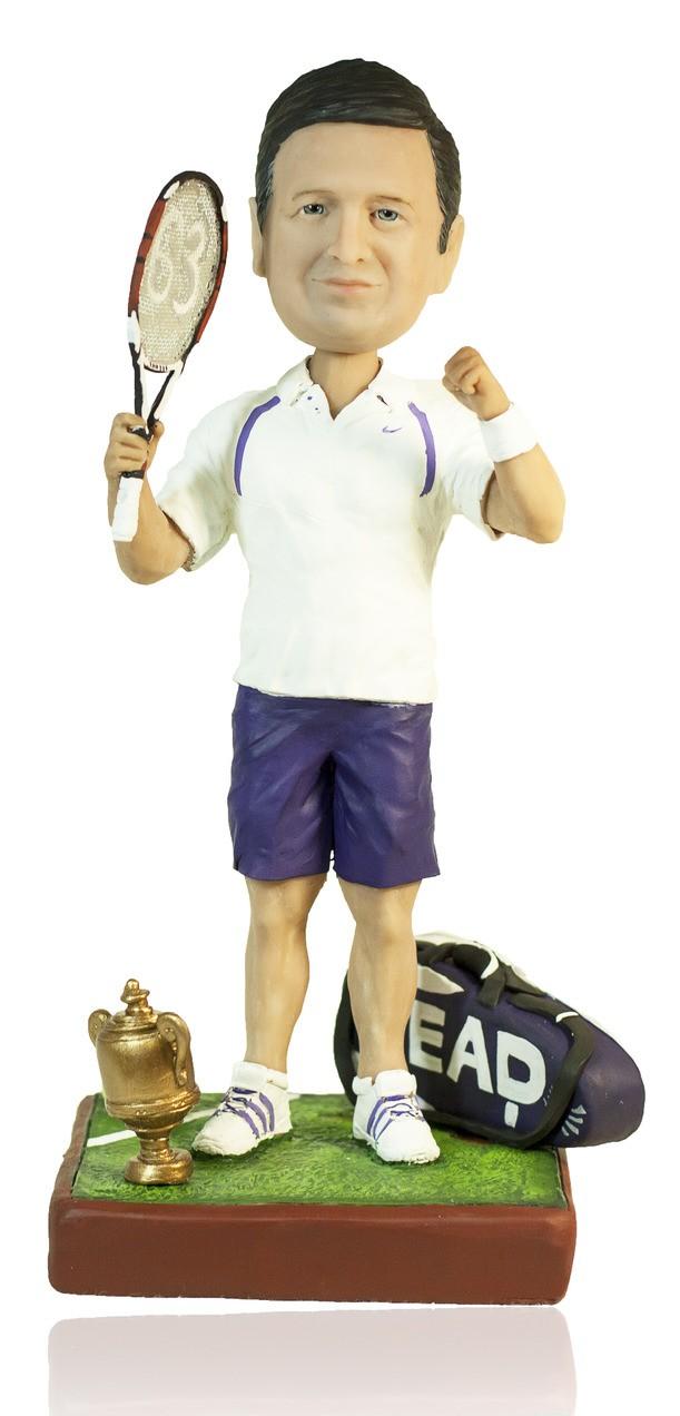 Статуэтка по фото теннисисту «Теннис большой - это хорошо»