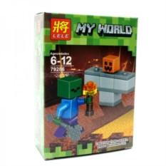 Конструктор Lele Minecraft Зомби и тыква