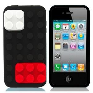 Чехол для iPhone 4/4S Конструктор (черный)