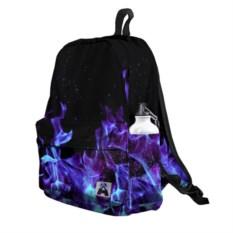3D-рюкзак Синий огонь