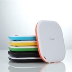 Бело-оранжевая беспроводная зарядка Creative