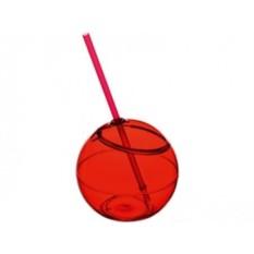 Емкость для питья Fiesta с соломкой (цвет — красный)