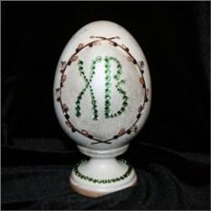 Яйцо с кристаллами Сваровски Пасха