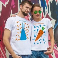 Парные футболки Твой зайка