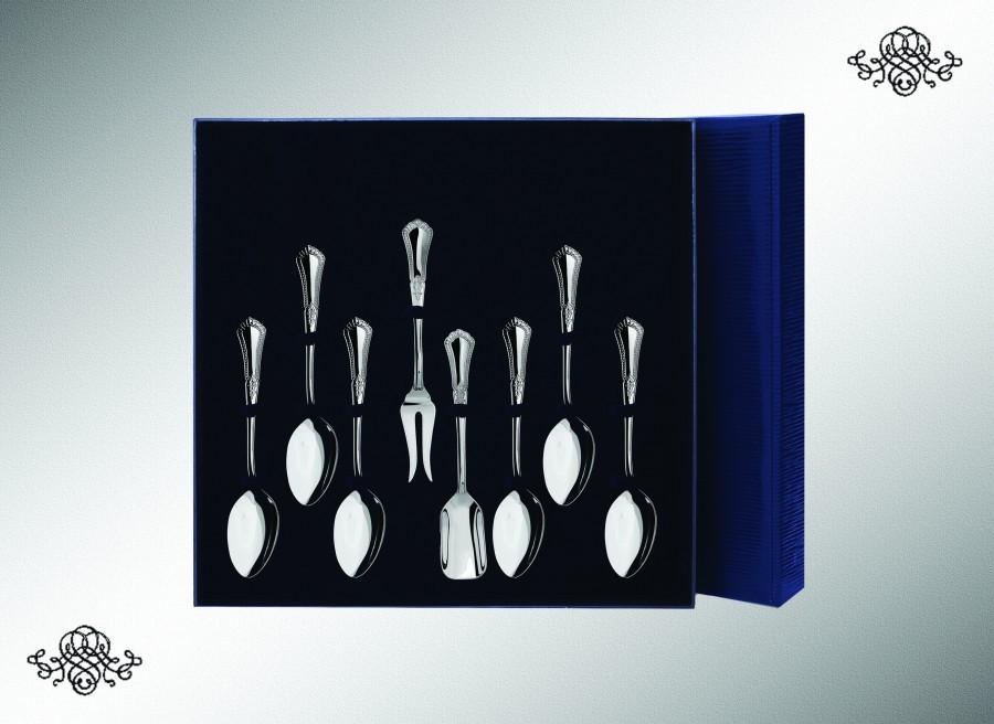 Серебряный чайный набор Фаворит из 8 предметов