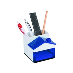 Синий набор для канцелярских принадлежностей в виде домика