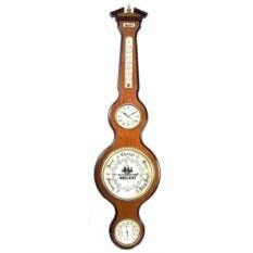 Деревянные часы-метеостанция Brigant
