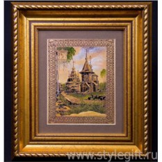 Панно-гравюра Воскресенская церковь