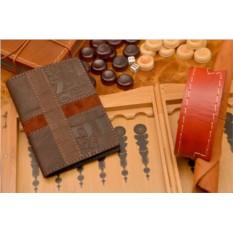 Кожаная коричневая обложка для паспорта GukFactory