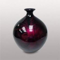Черно-бордовая керамическая ваза (34 см)