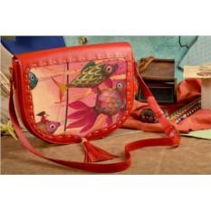Женская сумка-седло с принтом Волшебные рыбки