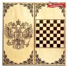 Подарочные нарды и шашки Герб России