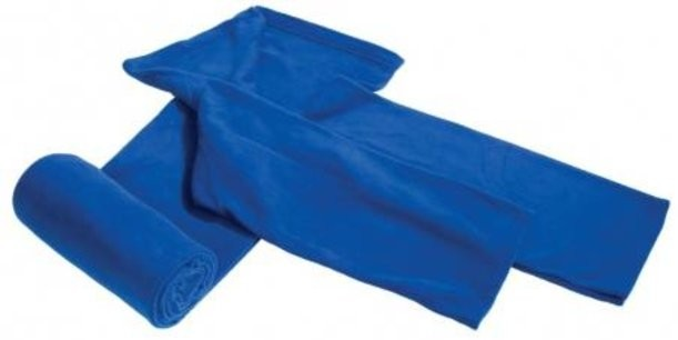 Темно-синий плед с рукавами