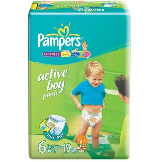 Трусики-подгузники Pampers Active Boy XL (от 16) 19 шт.