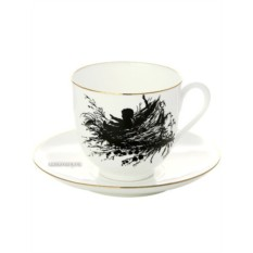 Чашка с блюдцем кофейная Гнездышко, серия Силуэты