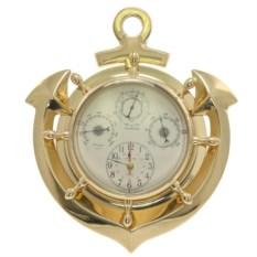 Настенные часы с барометром гигрометром и термометром