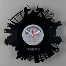 Часы из виниловой пластинки  Токио