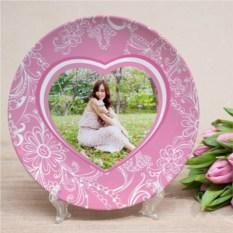 Фототарелка Розовое сердце