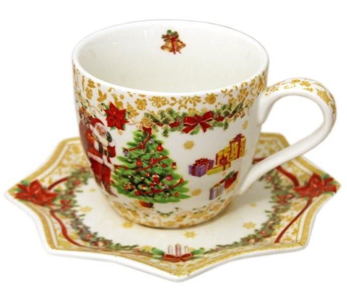 Чашка с блюдцем С Новым годом