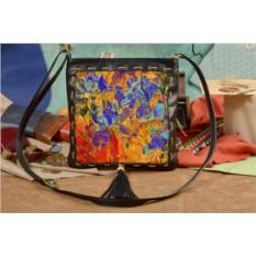 Женская сумка-планшет с принтом Необыкновенные цветы