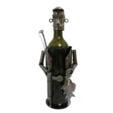 Декор бутылки из металла Рыбак