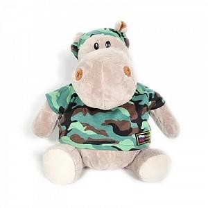 Мягкая игрушка «Бегемот-военный»