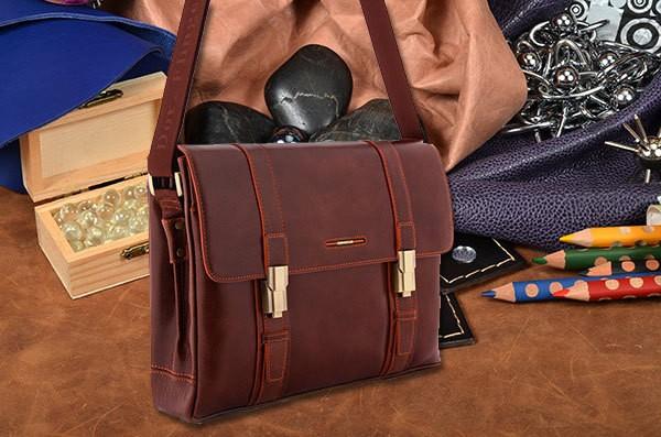 Коричневая кожаная сумка Dor.Flinger