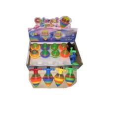 Пластмассовая игрушка Разноцветная юла-вертушка