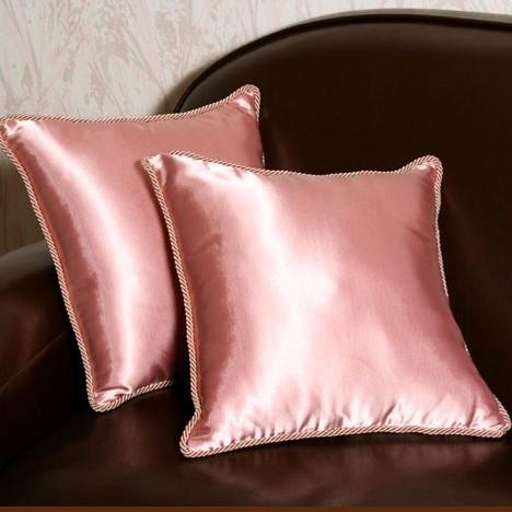 Шелковые подушки, розовые (2 шт)
