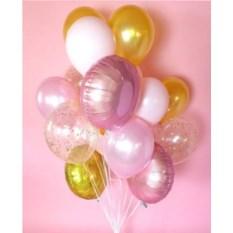 Букет шаров Розовое золото