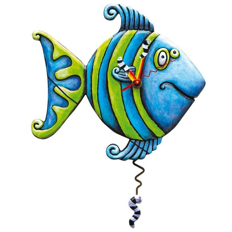 Часы Синяя рыбка