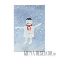 Обложка для паспорта Снеговик