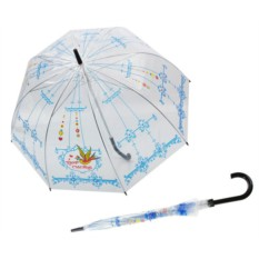 Детский прозрачный зонт Птица счастья
