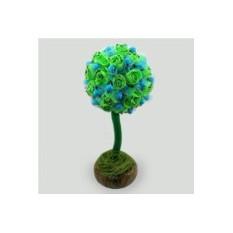 Дерево-топиарий из бирюзы Счастливое