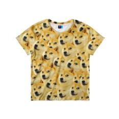 Детская футболка с 3D принтом Doge