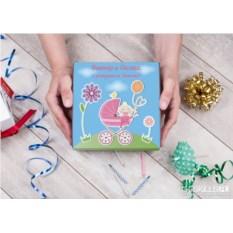 Именной набор конфет ручной работы «Дочка родилась!»